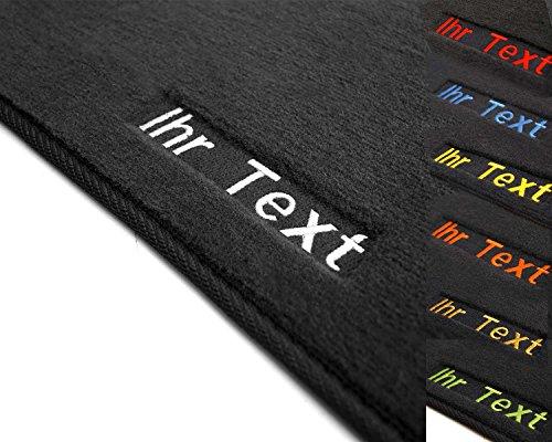 kh Teile Fußmatten Astra H Velour Automatten (Bestickt) Wunschtext Namen Werbung etc 2-teilig vorne