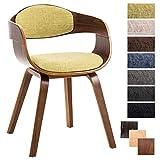CLP Chaise Design Retro Kingston Tissu I Chaise de Salle à Manger...