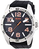 Boss Orange Herren-Armbanduhr XL Big Times Analog Quarz Silikon 1512943