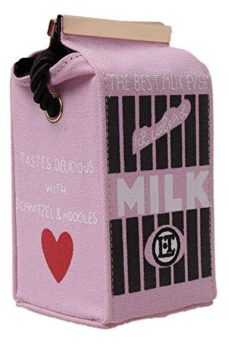 8.5x8x16.5cm Hengsong Ragazza Donna Tela Borse a Tracolla Latte Borse Scatola Zaino (Blu) Rosa
