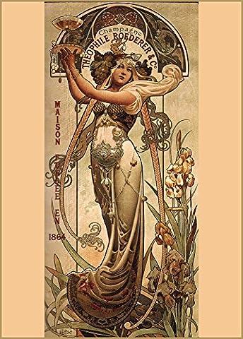 Français Vintage Fine Art Champagne Poster Théophile Roeder C1897Poster Reproduction Sur A3200g/m² soft-satin-finish Art Carte