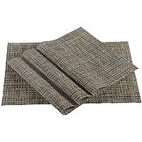 Tovagliette, facile da pulire riutilizzabili antimacchia tessuto vinile cucina PVC antiscivolo isolamento tovagliette per tabella Set di 4