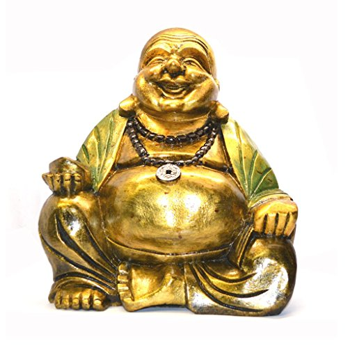 Laughing Buddha (30cm verde Robe) - Laughing Buddha