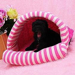 Saco de dormir de perro de gato del animal doméstico camada yurta , pink