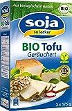 Soja SoLecker - Bio Tofu geräuchert Sojaprodukt vegan laktosefrei glutenfrei - 2x175g/350g