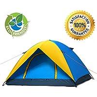 3-person-3-season-easy pieghevole leggero e facile da trasportare, impermeabile campeggio trekking Trail Tenda da esterni con borsa per il trasporto