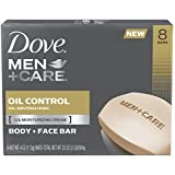 Dove Men Plus Care Body and Face Bar, Oil Control, 8 Count