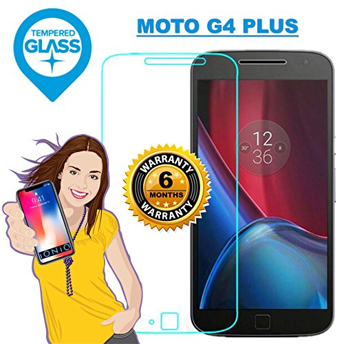 iONiQ Premium Toughened Tempered Glass Screen Protector Guard with Installation Kit for Moto G4 Plus/G4 Plus(Transparent)