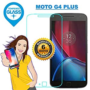 iONiQ Premium Toughened Tempered Glass Screen Protector Guard with Installation Kit for Moto G4 Plus (Transparent)