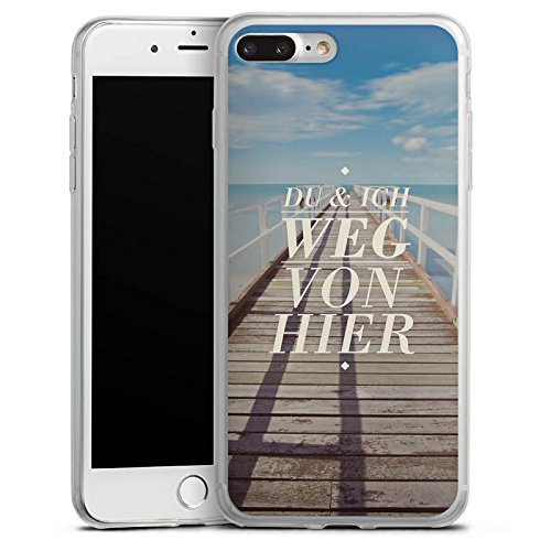 Apple iPhone X Slim Case Silikon Hülle Schutzhülle Leben Reise Sprüche Silikon Slim Case transparent