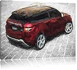gigantischer Range Rover schwarz/weiß Deluxe Format: 120x80 cm auf Leinwand, XXL riesige Bilder fertig gerahmt mit Keilrahmen, Kunstdruck auf Wandbild mit Rahmen, günstiger als Gemälde oder Ölbild, kein Poster oder Plakat