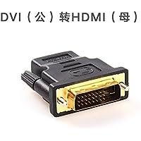 J&Q Connettore adattatore HDMI TO DVI Adapter scheda video DVI DVI a HDMI HD TV linea,Maschio a femmina