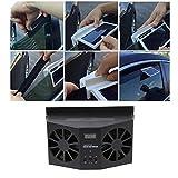 Car Heater Auto-Wieder Aufladbare Ventilationssystem-Auto-Solarenergie-Ventilator-Fenster-Ventilator-Auto-Luft Reinigen Klares Werkzeug-Luft-Entlüftungs-Cooler Abluftventilator,Black