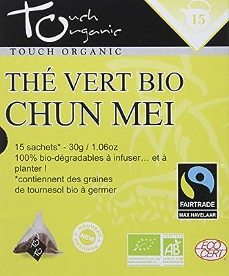 Touch organic Thé Vert Chun Mei Vrac Bio 15 Sachets 30 g