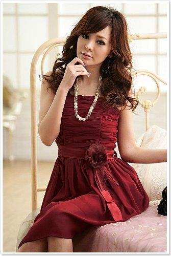 VIP Dress Grazioso Abito da sera con dettagli floreali in nero, rosa pallido e rosso Rosso