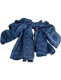 Pure Silk Batik Scarf in New Blues