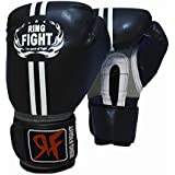 Ring Fight Pro Boxing Gloves (Black)