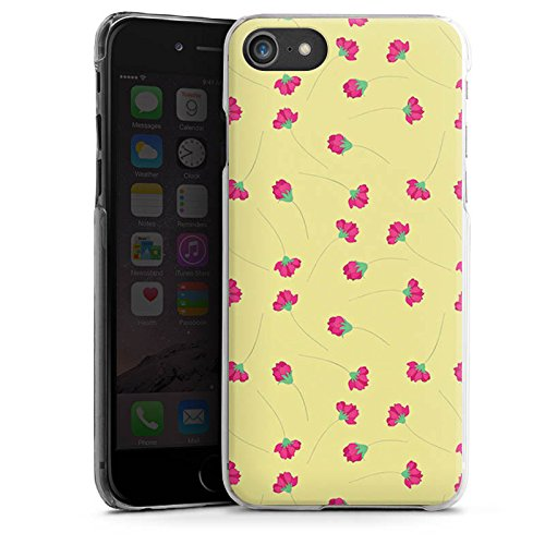 Apple iPhone X Silikon Hülle Case Schutzhülle Flower Muster Rosen Hard Case transparent