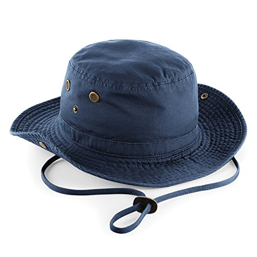 Beechfield - Chapeau protection IPS 50 100% coton - Unisexe Bleu Marine