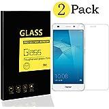 [2-Pack] Huawei Honor 5C / Honor 7 Lite / GT3 Protectores de Pantalla , MENGGOOD Cristal Películas de Protección Vidrio Templado Film protectora HD Invisible para Huawei Honor 5C / Honor 7 Lite / GT3 - Dureza 9H Anti-arañazos