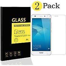 [2-Pack] Huawei Honor 5C / Honor 7 Lite / GT3 Pellicole Protettive , MENGGOOD Proteggi Schermo in Vetro Temperato Protezione di Display Cristallo Trasparente Invisibile per Huawei Honor 5C / Honor 7 Lite / GT3 - 9H Durezza