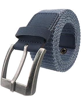 ECHI Cinturón de cuero Web de los hombres Cinturón táctico de lona táctica militar respirable, Cinturón de tela...