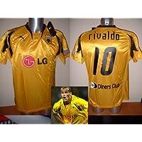 AEK Atenas Rivaldo Brasil Grecia adulto grande camiseta jersey fútbol Puma BNWT Barcelona AC Milan Olympiacos griego