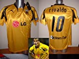 Puma AEK Atenas Rivaldo Brasil Grecia Adulto Grande Camiseta Jersey fútbol Barcelona AC Milan Olympiacos Griego