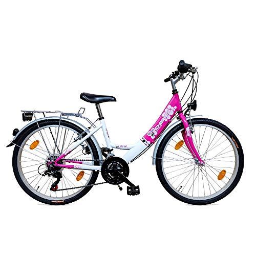 Delta Harmony 24 Zoll Mädchenfahrrad Kinderfahrrad 18 Gang Shimano Kettenschaltung STVO tauglich Rosa