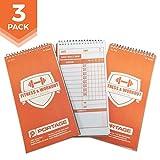 Portage Fitness und Workout Notebook-10,2x 20,3cm stabile Bewegung Tagebuch für Planung und...