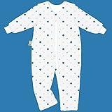 Odenwälder Jersey- Schlafoverall Hopsi - Sterne weiss-blau - 98/104