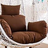 BAOFUL Cuscini per sedie sospese,Uovo Amaca Ammortizzazione Seduta Nido Cuscino Staccabile Cuscini per Sedia Coperta Balcone PadNido d'uccello Swing Sedia Cuscino