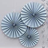 Ginger Ray Pastell Blau Kreis Fan Pinwheel hängen Dekorationen für Party oder Hochzeit?Pastell Perfektion