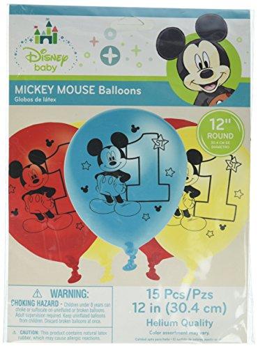 Micky Maus Spaß zu einem Geburtstag Ballons 15ct (Mickey Geburtstag Zahl)