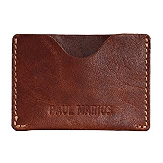 GABIN tarjetero de cuero marrón tarjeta de crédito tarjeta de fidelidad PAUL MARIUS