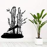 Moda de bambú Decoración para el hogar Decoración moderna de acrílico removible etiqueta de la pared Diy Accesorios de decoración del hogar naklejki rojo XL 57 cm X 69 cm
