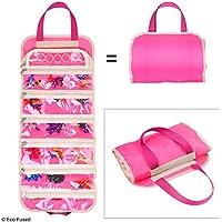 Bolsa de Almacenamiento de Organizador de Juguete Plegable para niñas – Ideal para Juguetes, Accesorios y coleccionables, como: Barbie, Disney, LOL, Shopkins (Pink)