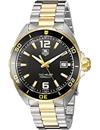 TAG HEUER MEN'S 41MM TWO TONE GOLD IP BRACELET QUARTZ WATCH WAZ1121.BB0879