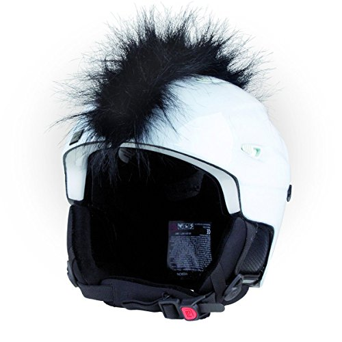 Crazy Ears Helm-Accessoires Irokese Mohawk Schwarz Weiß Pink Ski Snowboard, CrazyEars:Irokese Schwarz - Mohawk Helm Fahrrad