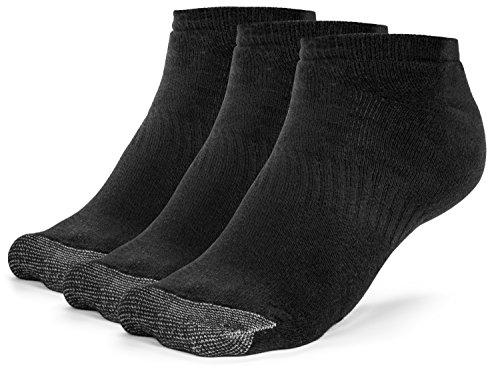 Galiva Herren Socken, Sneakersocken, gepolsterte extra weiche, Low cut Baumwollsocken - 3 Paar, Mittelgroß, Schwarz (Herren Low-cut-socken 100 Baumwolle)