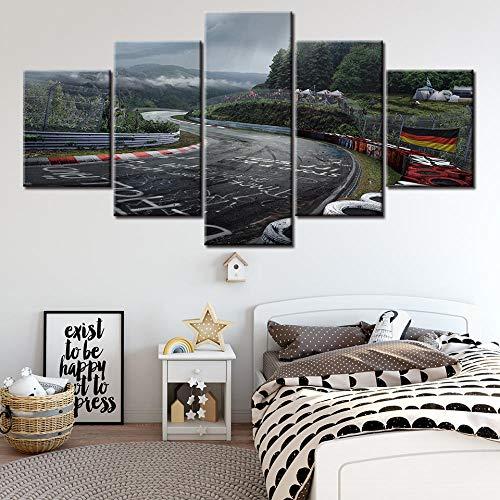 5 Piezas Lienzos Cuadros Impresos Wall Art Panel Nurburgring