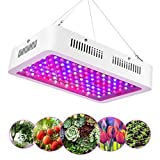 eecoo LED Pflanzenlampe Vollspektrum 1200W LED Grow Light mit Doppel Chips 120 LEDs, IR und UV Wachstumslampe...
