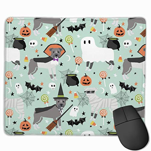 Pitbull Halloween Costume Dog Vampire Ghost Mummy Light Mousepad 18x22 cm