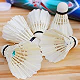 ALLSON Feather Badminton Shuttlecock (Pack Of 10 Shuttlecocks)