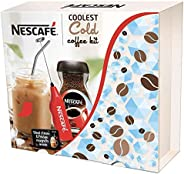 Nescafe Coolest Cold Coffee Kit, Limited Edition - (Mason Jar, Steel Straw, Frother, 2 Fridge Magnets and Coff