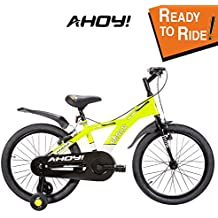 AHOY! Fitted & Ready to Ride Bikes 20 inch Chaos for Kids (7 to 10 Years) - Neon Yellow