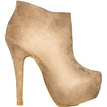 Toocool - Stivali donna scamosciati stivaletti tronchetti tacchi alti scarpe  nuove AA-135 c05ed3763bd