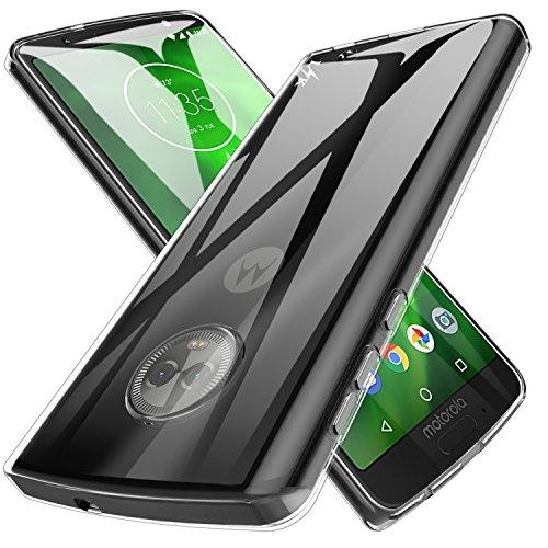LK Moto G6 Plus Hülle, Ultra Schlank Dünn TPU Gel Gummi Weiche Haut Silikon Anti-Kratzer Schutzhülle Abdeckung Case Cover für Moto G6 Plus (Transparent)