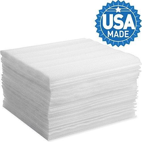 Schaumstoff Packungen, DAT 30,5x 30,5cm Umhüllung aus Schaumstoff Blatt Polsterung für beweglichen Aufbewahrung Verpackung und Versand, Arztausstattung, Amtsheftung 30,5 x 30,5 cm weiß
