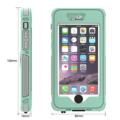 Phone case & Hülle Für iPhone 6 / 6S, wasserdicht Staubdicht Shockproof Crushproof Noctilucent Schutzhülle mit Halter ( Color : Purple ) Green